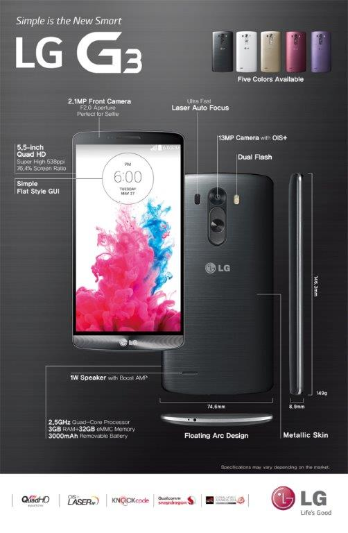 LG G3 simple spec